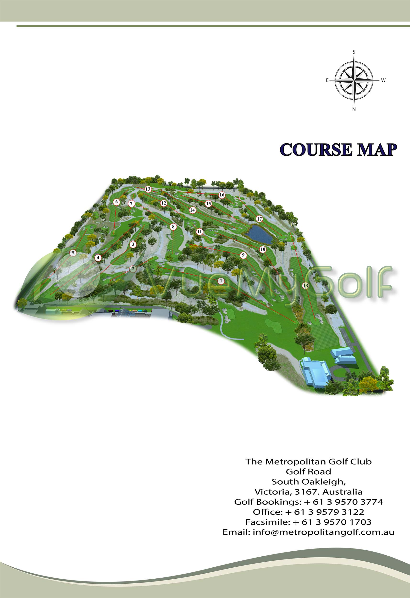 3D Course Map