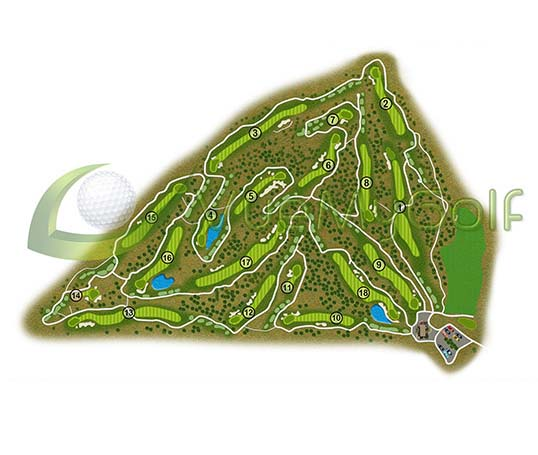 VueMyGolf Course Map 12